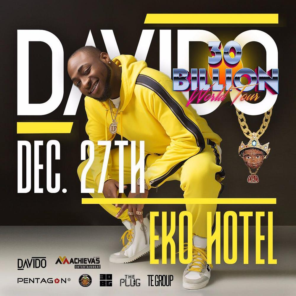 Davido to round up 30 Billion Tour with First Headline Concert in Nigeria in 5 Years