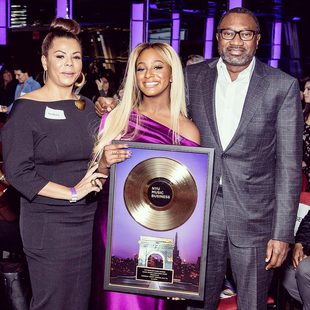 Shining Star!? DJ Cuppy bags Artist Achievement Award from Alma Mater NYU