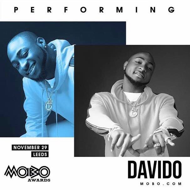 Davido to join Cardi B, Krept & Konan, Yxng Bane to perform at the MOBO Awards 2017