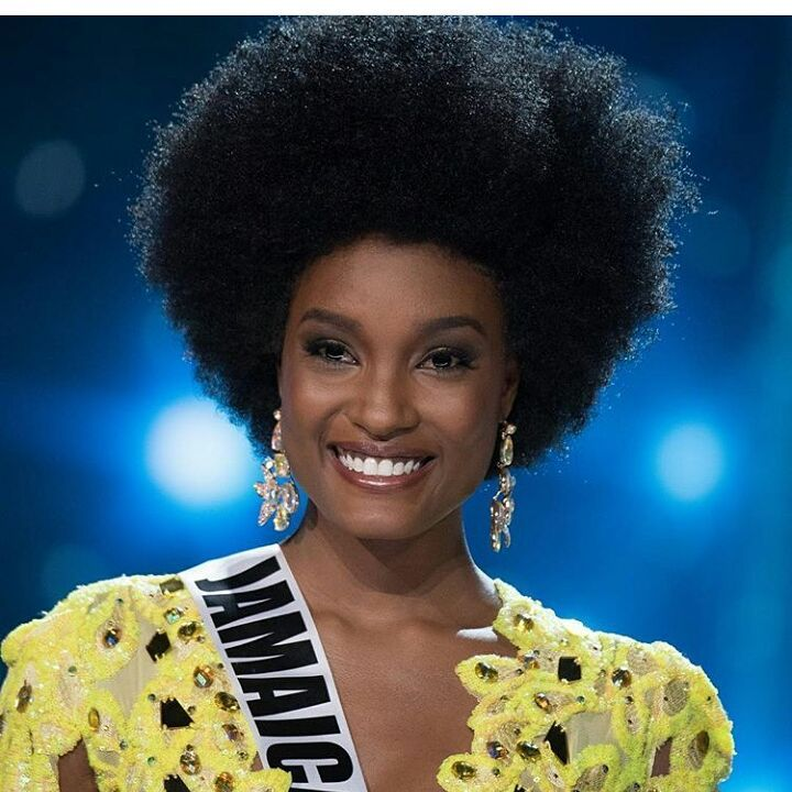 Miss Jamaica Davina Bennett rocked her Natural Afro at the Miss Universe Pageant which the Internet absolutely adores
