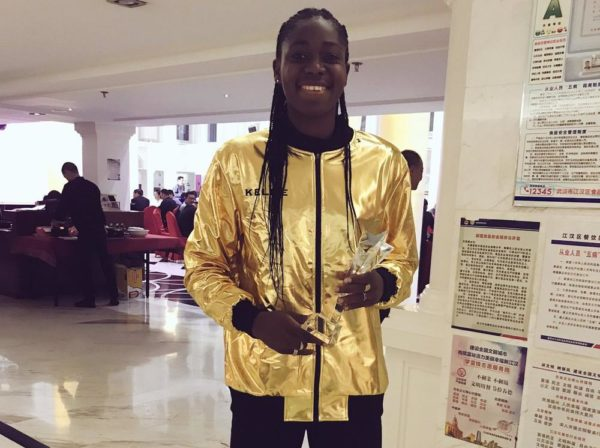All Gold Everything! Asisat Oshoala wins Best Striker of the Season - BellaNaija