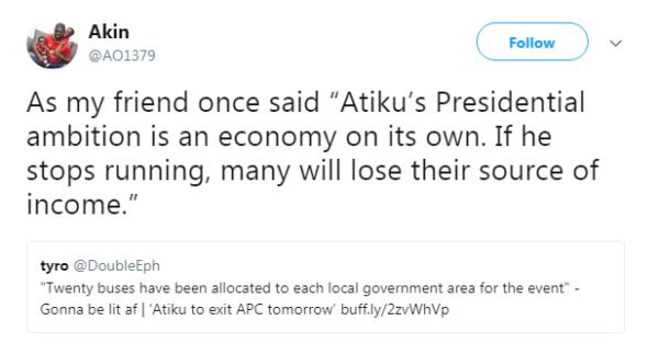 Ganduje says Atiku's exit from APC no surprise