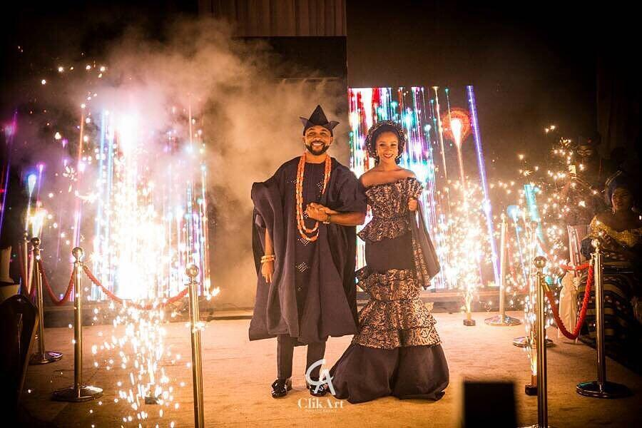 Pictures From Adesua Etomi & Banky W's Traditional Wedding