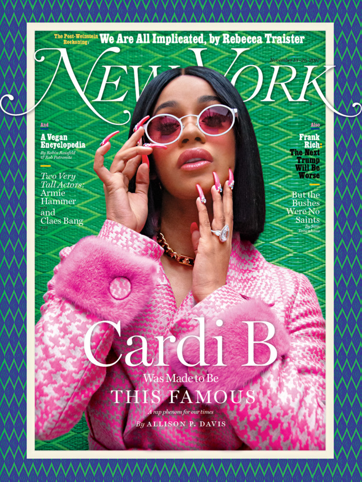 Cardi B discusses Feminism & Carrying Guns as she covers New York Magazine - BellaNaija