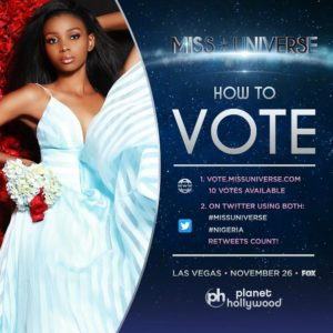 Miss Universe 2017: Voting has begun! Here's how to Get Nigeria's Rep Stephanie Agbasi into the Semi-Finals
