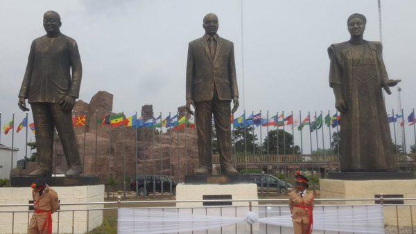 Statues of Ellen Johnson Sirleaf, Nnambi Azikwe, Kwame Nkrumah unveiled in Imo State - BellaNaija