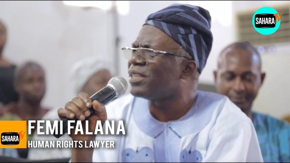 """""""9 or 10 of the 20 richest pastors are from Nigeria, yet our people are getting poorer"""" - Femi Falana - BellaNaija"""