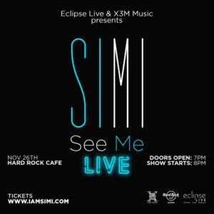 See Me Live! Simi set to stage Headline Concert this December