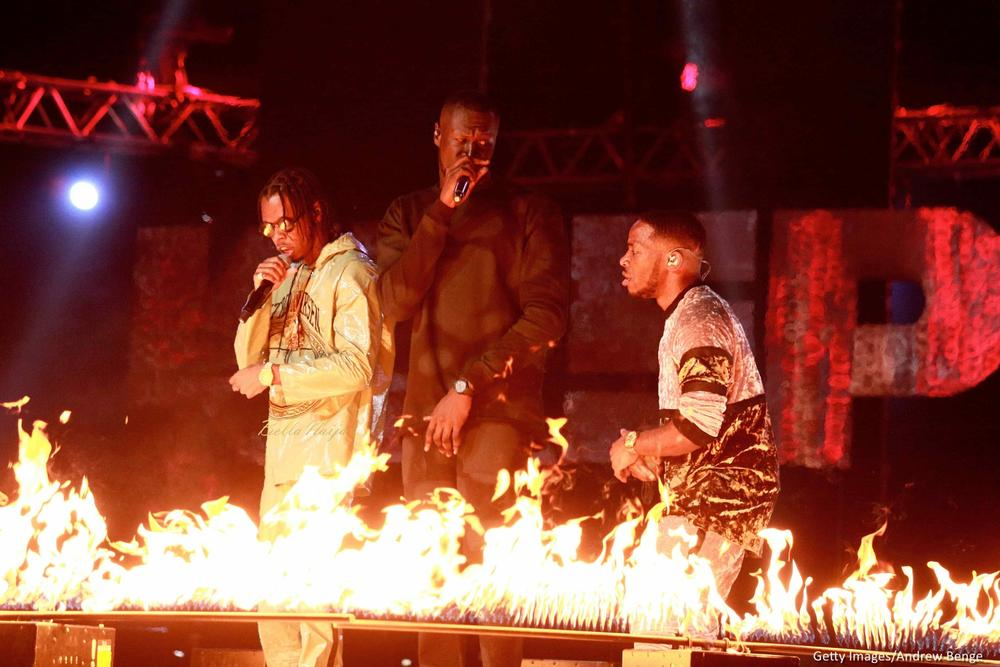 Baddest!🙌 Davido joins Cardi B, Krept & Konan, Stormzy on stage at #MOBOAwards 2017 | Highlights
