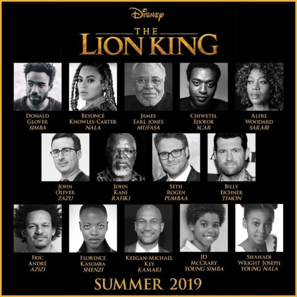 "Beyoncé, Chiwetel Ejiofor, Donald Glover cast in ""The Lion King"" Remake - BellaNaija"
