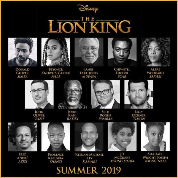 "Beyoncé, Chiwetel Ejiofor, Donald Glover cast in ""The Lion King"" Remake - BellaNaija"
