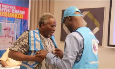 "Olu Jacobs, Ngozi Ezeonu, Hafiz ""Saka"" Ayetoro inducted as FRSC Celebrity Special Marshals 