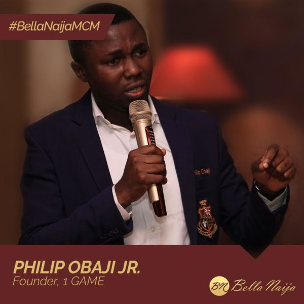#BellaNaijaMCM Philip Obaji Jr. of 1 GAME is using Education to Tackle Violence & Terrorism