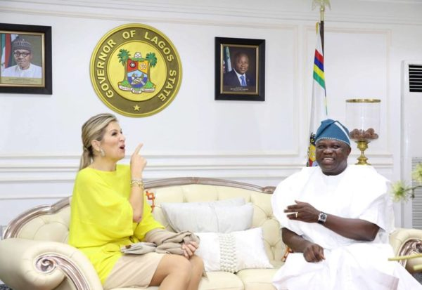 Queen Maxima of Netherlands visits Lagos, Lauds state's Health Policy - BellaNaija