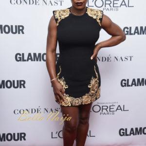 Hot Mama Serena Williams makes Red Carpet Debut at #GlamourWOTY
