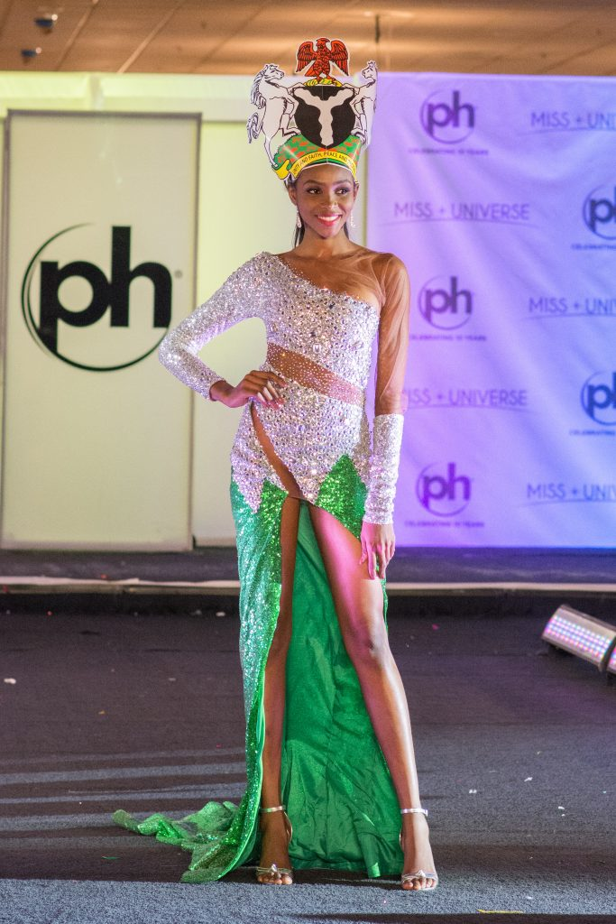 Image result for Stephanie Agbasi Cultural Attire for Miss Universe Pageant