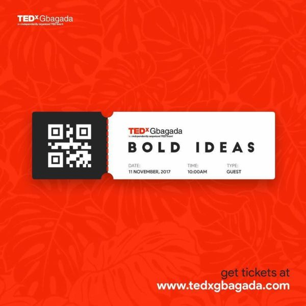 "#TEDxGbagada Presents ""Bold Ideas"" - A Celebration of Ingenuity 