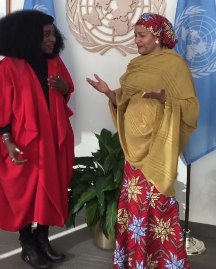 TY Bello meets with UN Deputy Secretary General Amina Mohammed - BellaNaija