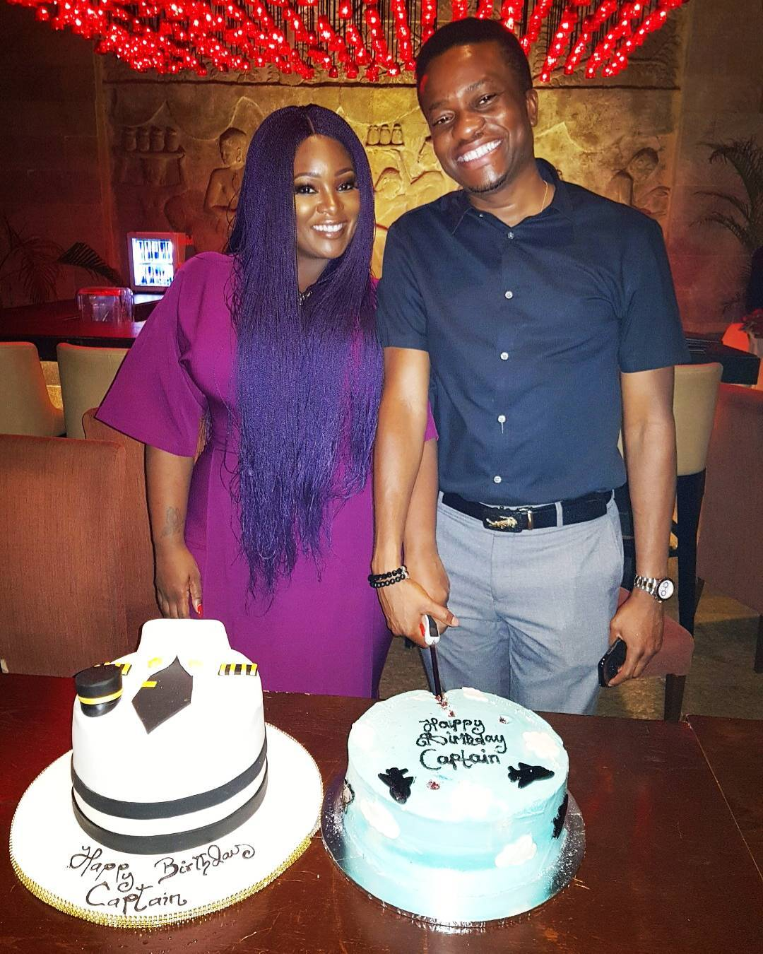 Toolz & Husband Tunde Demuren are all Smiles as 'they' Celebrate Birthday - BellaNaija