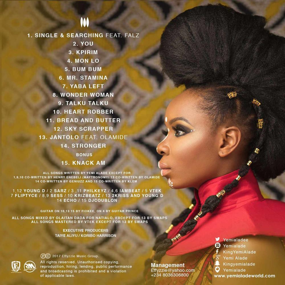 "Yemi Alade looks fierce of the Cover of Forthcoming Album ""Black Magic"" 