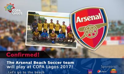 Arsenal beach soccer team at COPA LAGOS