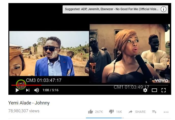 "Yemi Alade's ""Johnny"" becomes Most Viewed Nigerian Music Video on YouTube"