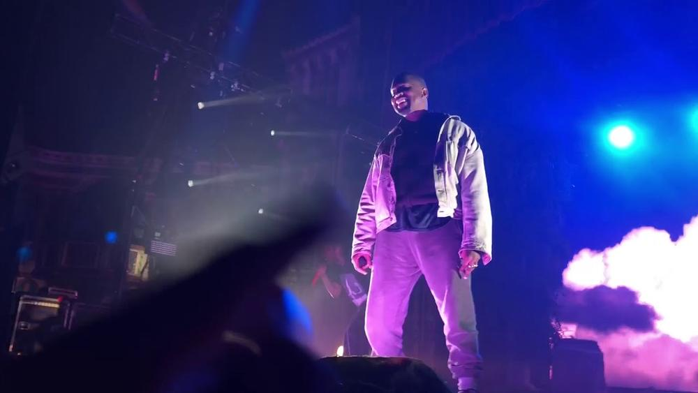 Kanye West makes first apperance in over a Year at Kid Cudi concert | WATCH