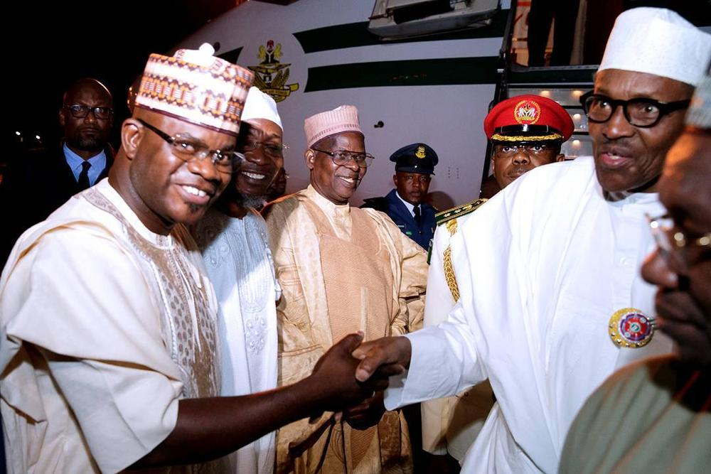 Buhari, Aregbesola, Yahaya Bello arrive Jordan for Tourism Summit