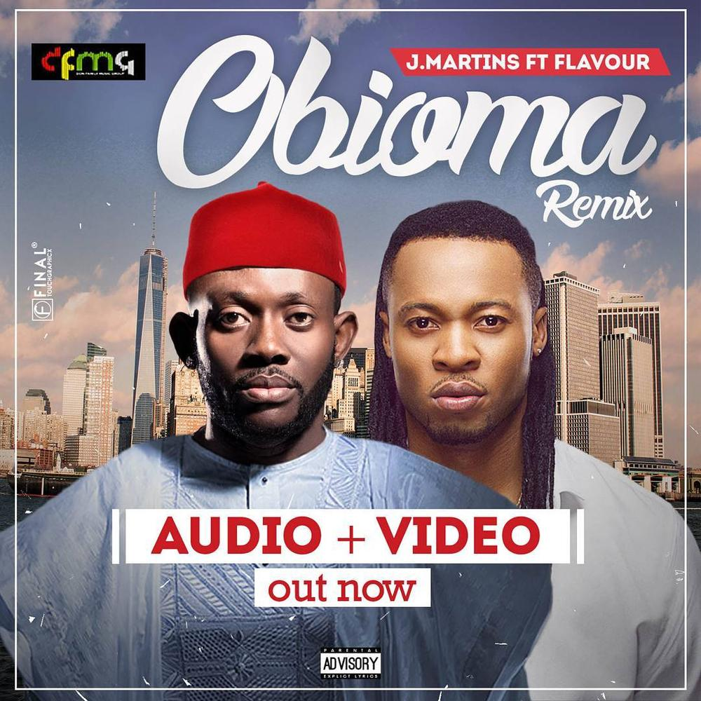 "Mr Ibu, Chinedu Ikedieze feature in J.Martins' New Music Video ""Obioma (Remix)"" featuring Flavour 