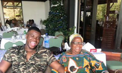 No Place like Home!❤ Michael Dapaah spends time with his Nana in Ghana after 9 years away