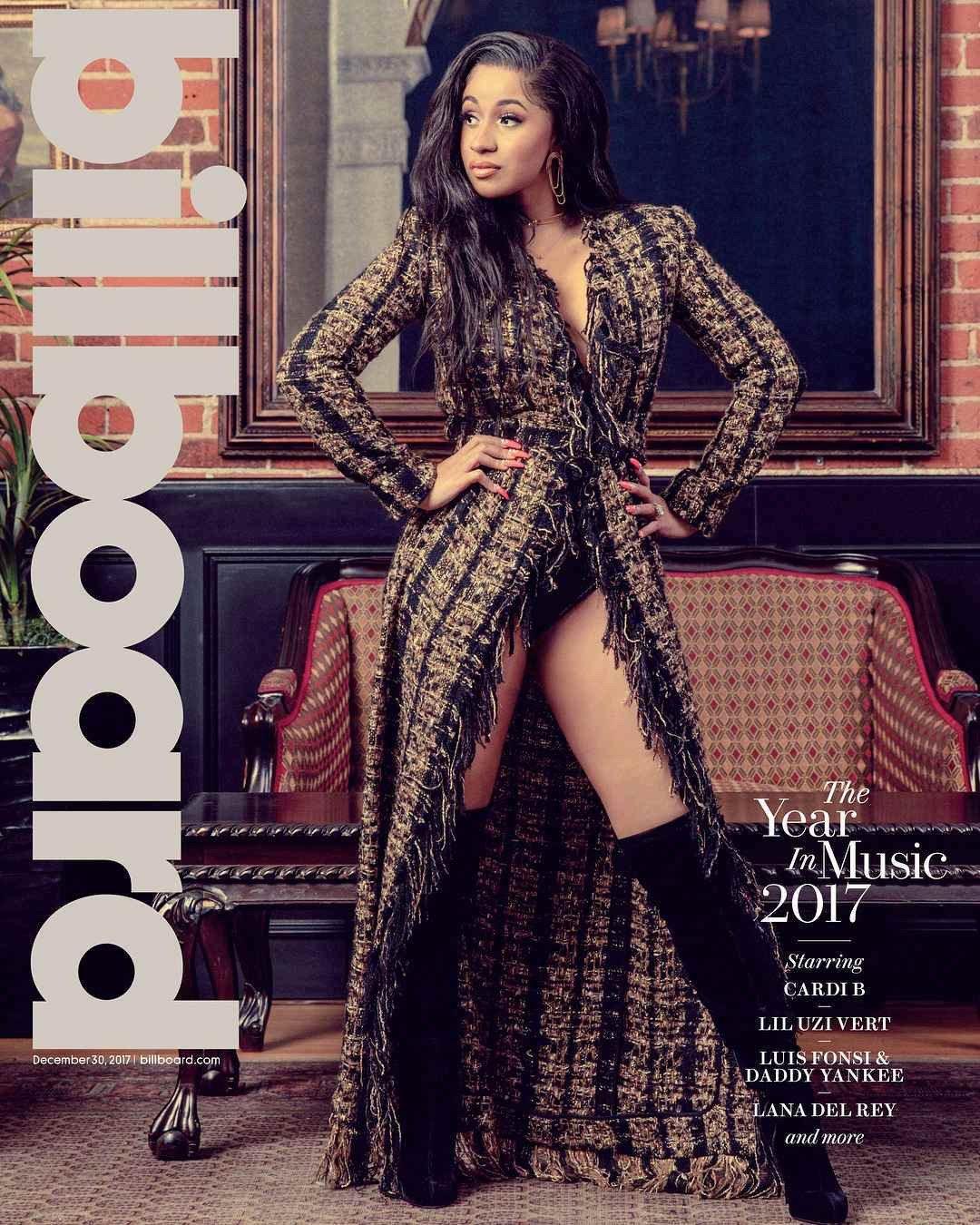 "The Year of Cardi! ""Bodak Yellow"" star covers Billboard ""The Year In Music"" Issue alongside Luis Fonsi, Lil Uzi Vert, Daddy Yankee & Lana Del Rey"