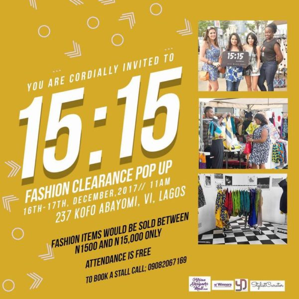 bfee26d3c05 We at the African Designers Mall (ADM) are super excited about our upcoming  POP-UP sales event called 15 15
