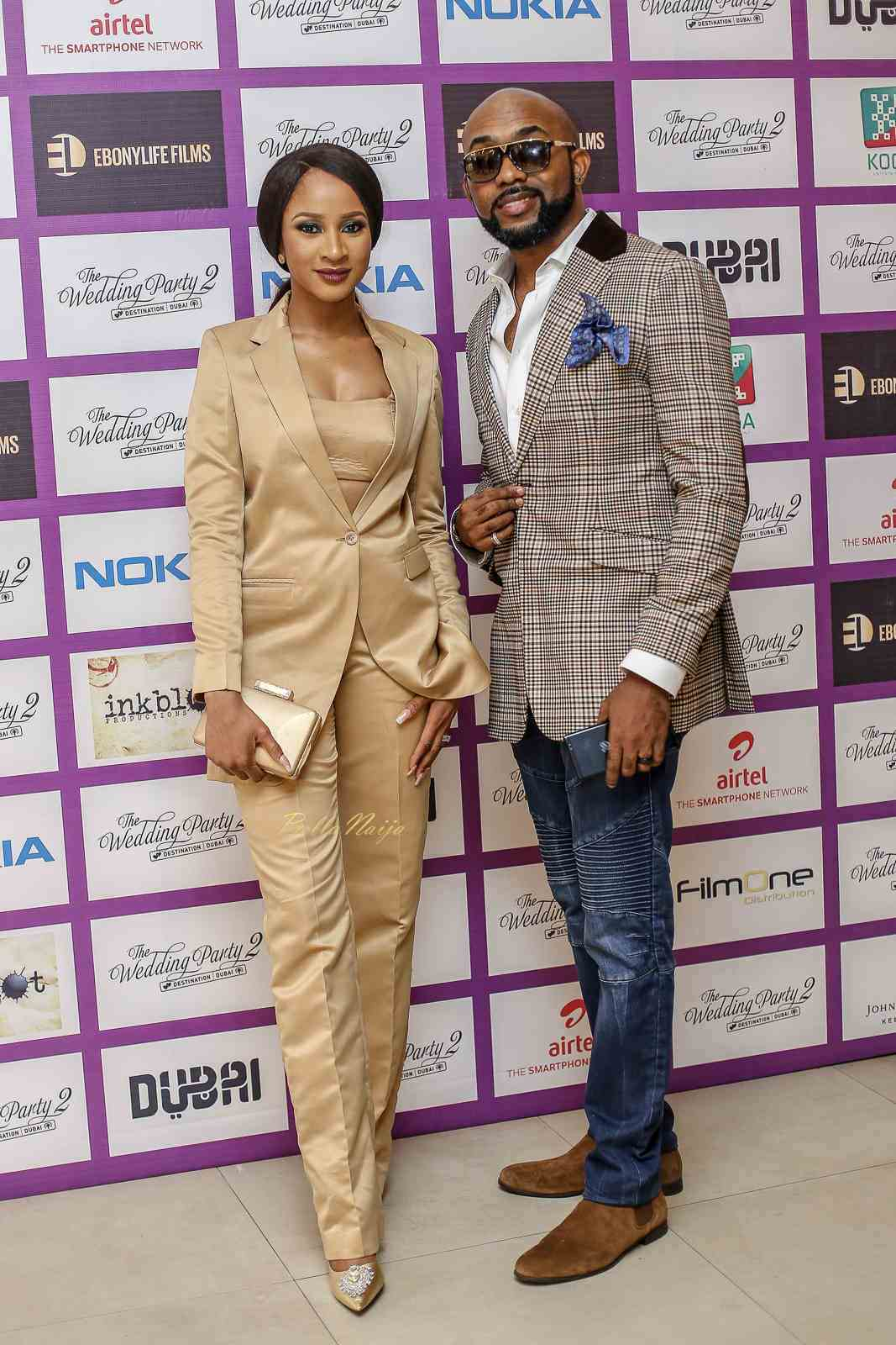 "#TWP2: Mo Abudu, Adesua & Banky Wellington attend private screening for ""The Wedding Party 2: Destination Dubai"""