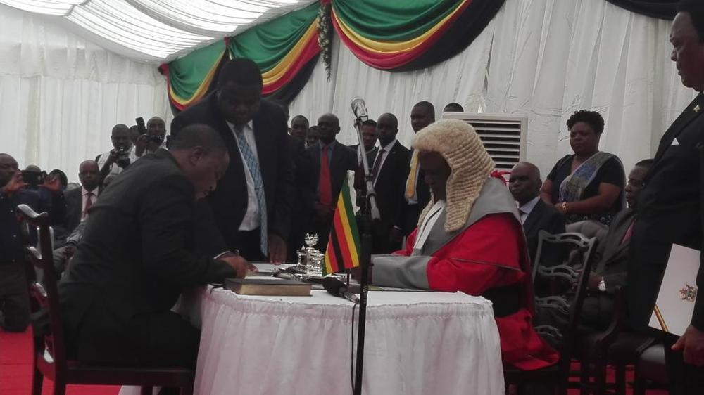 Zimbabwean Army Chief who helped Remove Mugabe sworn in as VP - BellaNaija