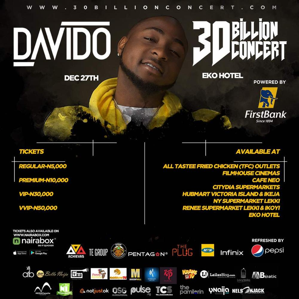 Here are 5 Reasons Why You Shouldn't Miss Davido's #30BillionConcert in Lagos | Wednesday, December 27th - BellaNaija