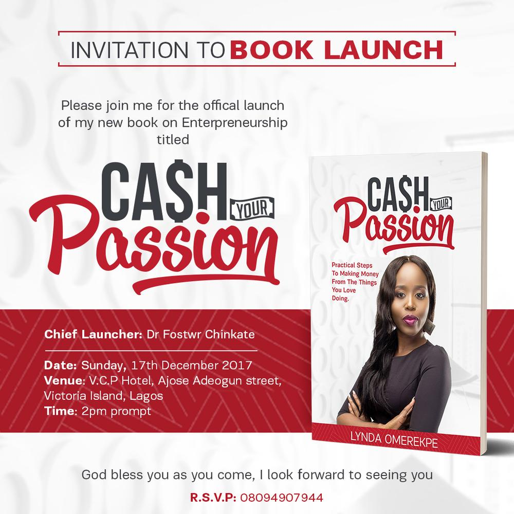Cash your passion launch