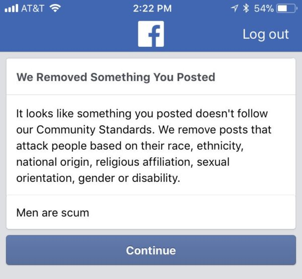 "Facebook bans Users from posting ""Men are scum"" - BellaNaija"