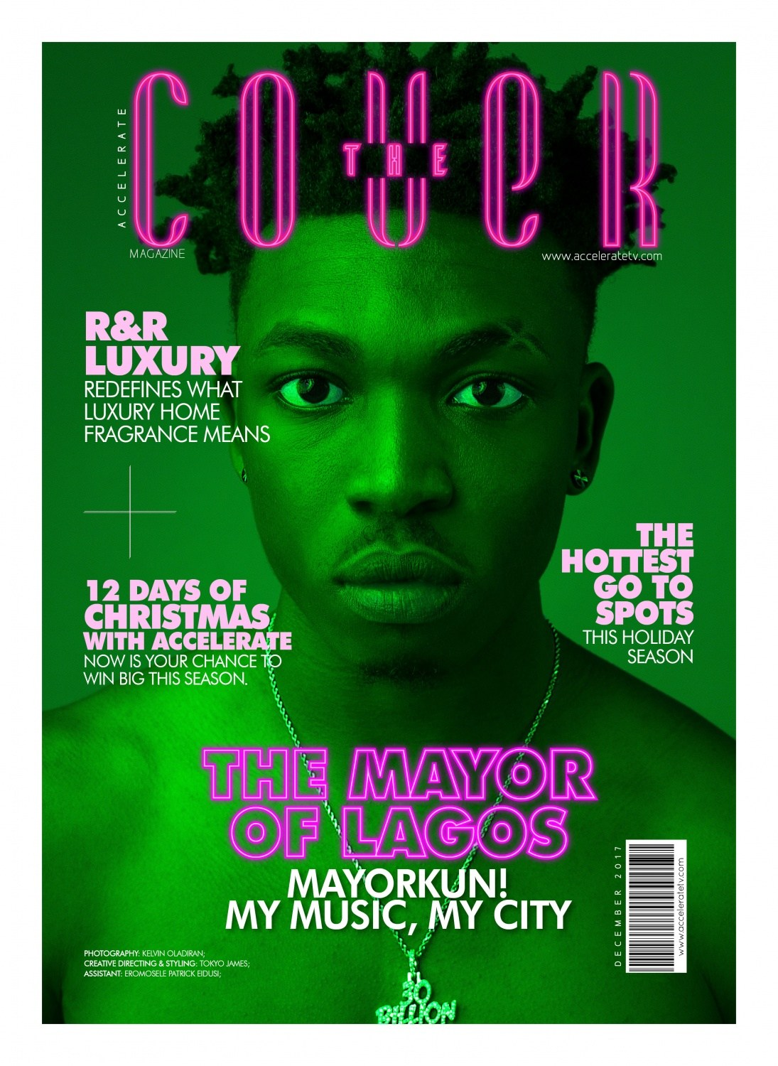 The Mayor of Lagos! Mayorkun stars on Accelerate TV's  'The Cover'