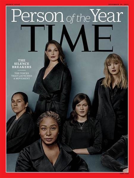 """The Silence Breakers"" who made public Sexual Harassment claims named as TIME's 2017 ""Person of the Year"" - BellaNaija"