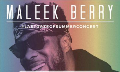 BellaNaija Giveaway! 2 Lucky Winners to win 2 Tickets to Maleek Berry's #LastDazeOfSummer Concert