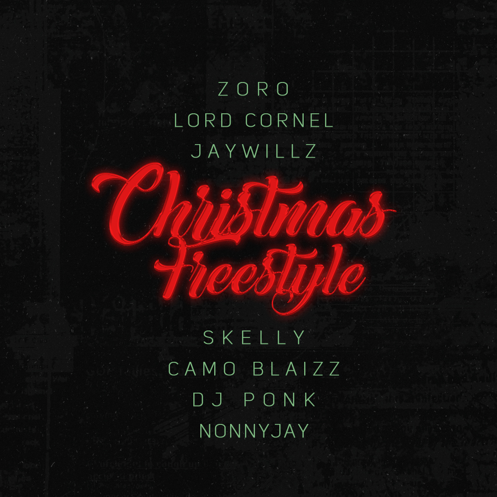 """Lord Cornell, JayWillz, Skelly feature on Zoro's """"Christmas Freestyle"""" 