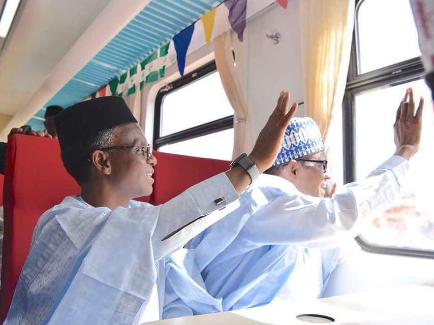 President Buhari visits Kaduna to Commission New Coaches and Locomotives for Kaduna-Abuja Train Service - BellaNaija
