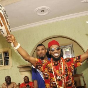 Egweji! 🙌 D'Banj conferred with Cheiftaincy Title in Imo state