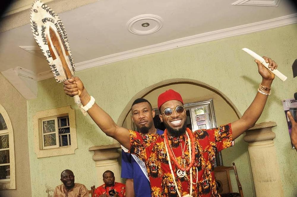 Egweji! ? D'Banj conferred with Cheiftaincy Title in Imo state