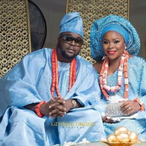 First Look at Superstar Singer Omawumi and Tosin Yusuf's Traditional Wedding in Warri #Toy18
