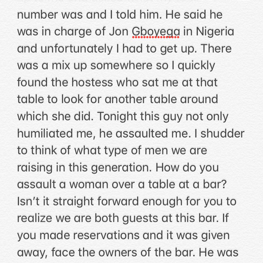 John Boyega's Chaperone humiliated & assaulted me - Toke Makinwa