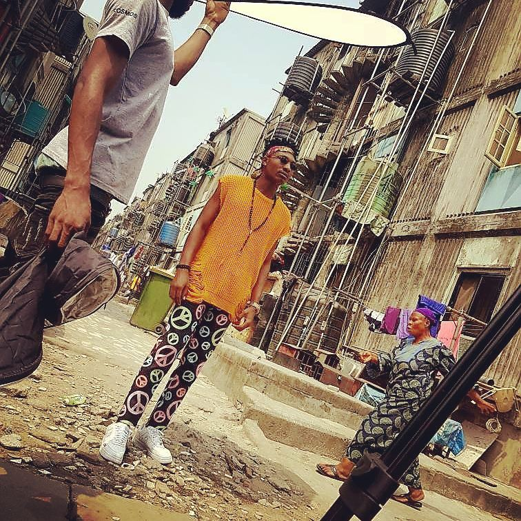 "Efe & Olamide hit the streets for to shoot Music Video for ""Warri"" Collaboration"