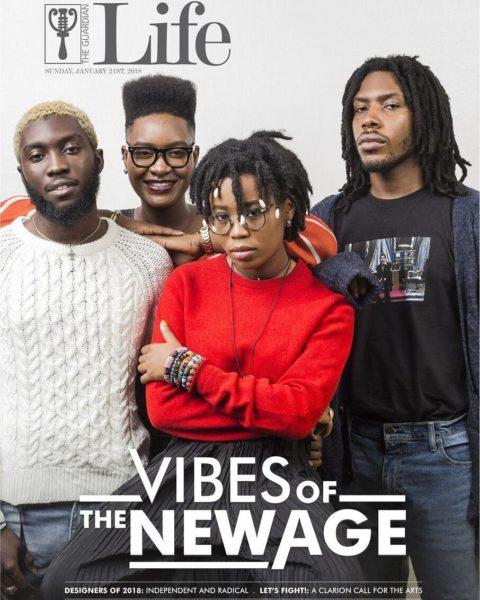 New Age Vibes! Odunsi, Maka, Lady Donli & Santi cover Guardian Life Magazine