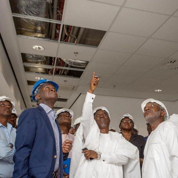 Fashola inspects EFCC New office Building in Abuja - BellaNaija