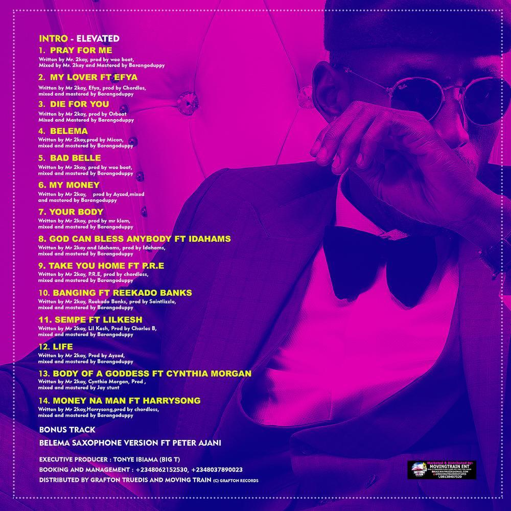 Elevated! Mr. 2Kay unveils Cover Art & Tracklist for Second Studio Album